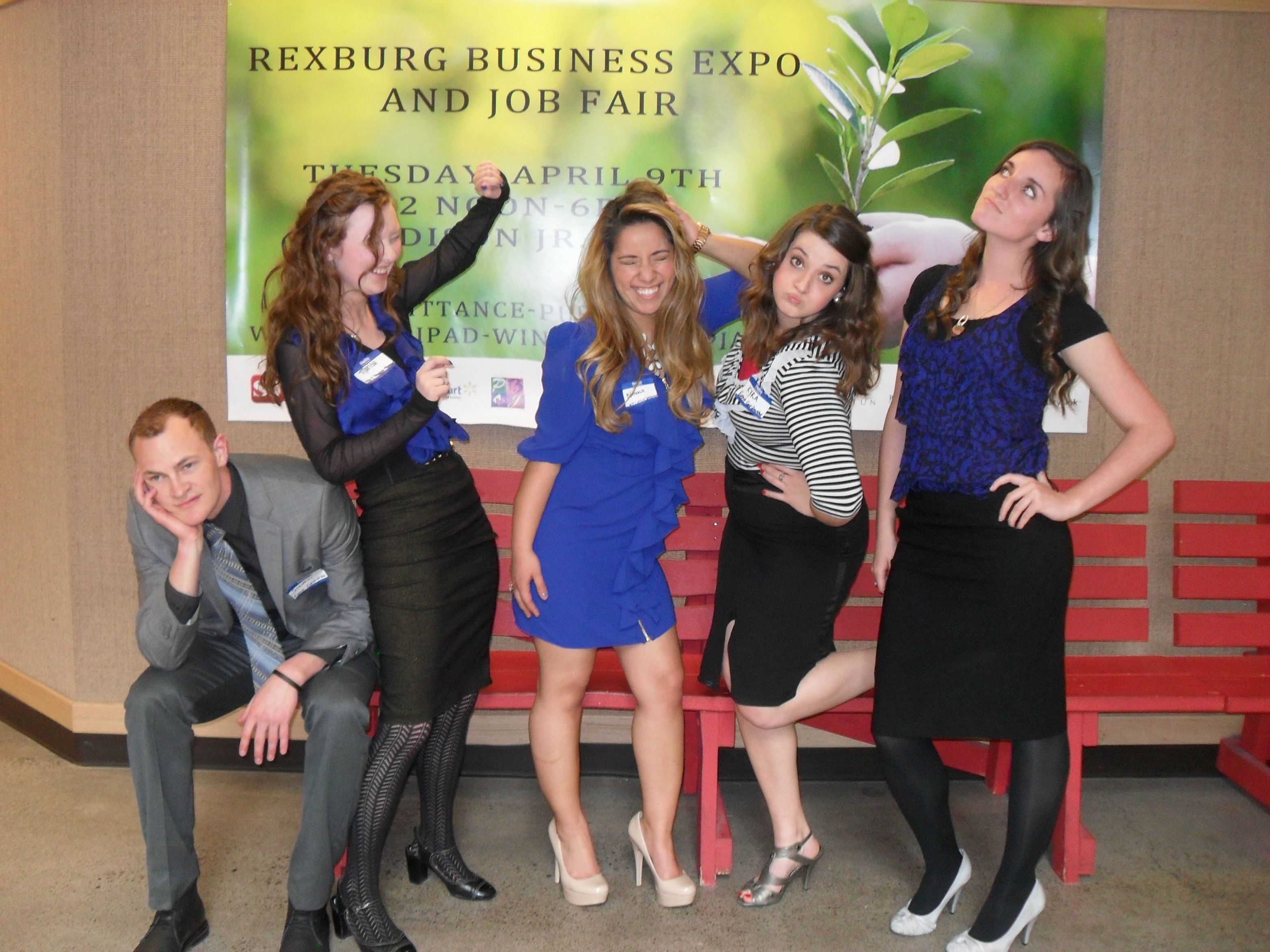 Rexburg Business Expo Student Events Management team being silly! Celebrating our success!